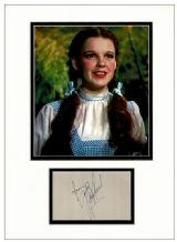 Judy Garland Autograph Display - Wizard Of Oz